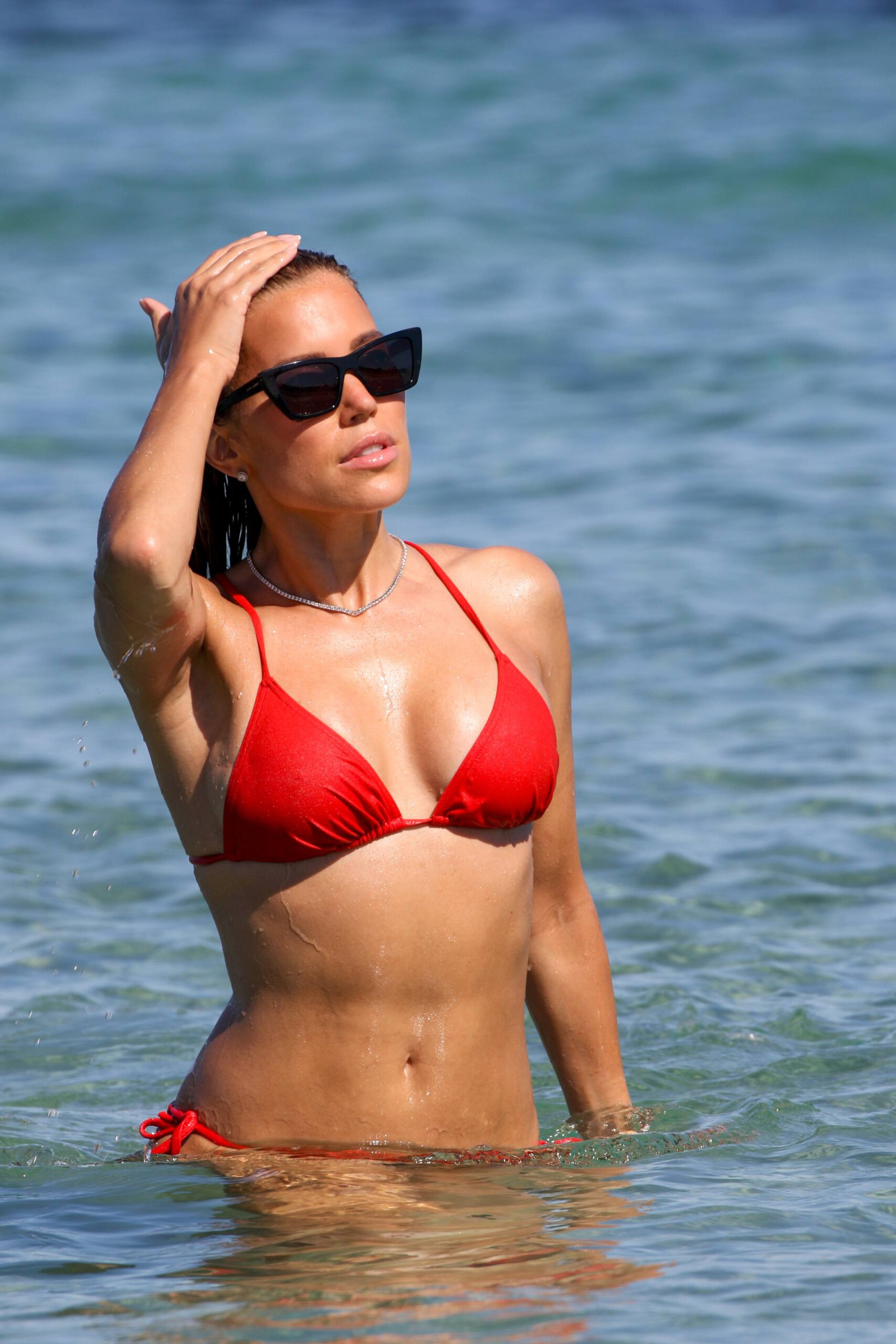 Sylvie Meis – Beautiful Body In Sexy Bikini On The Beach In Saint Tropez 0012