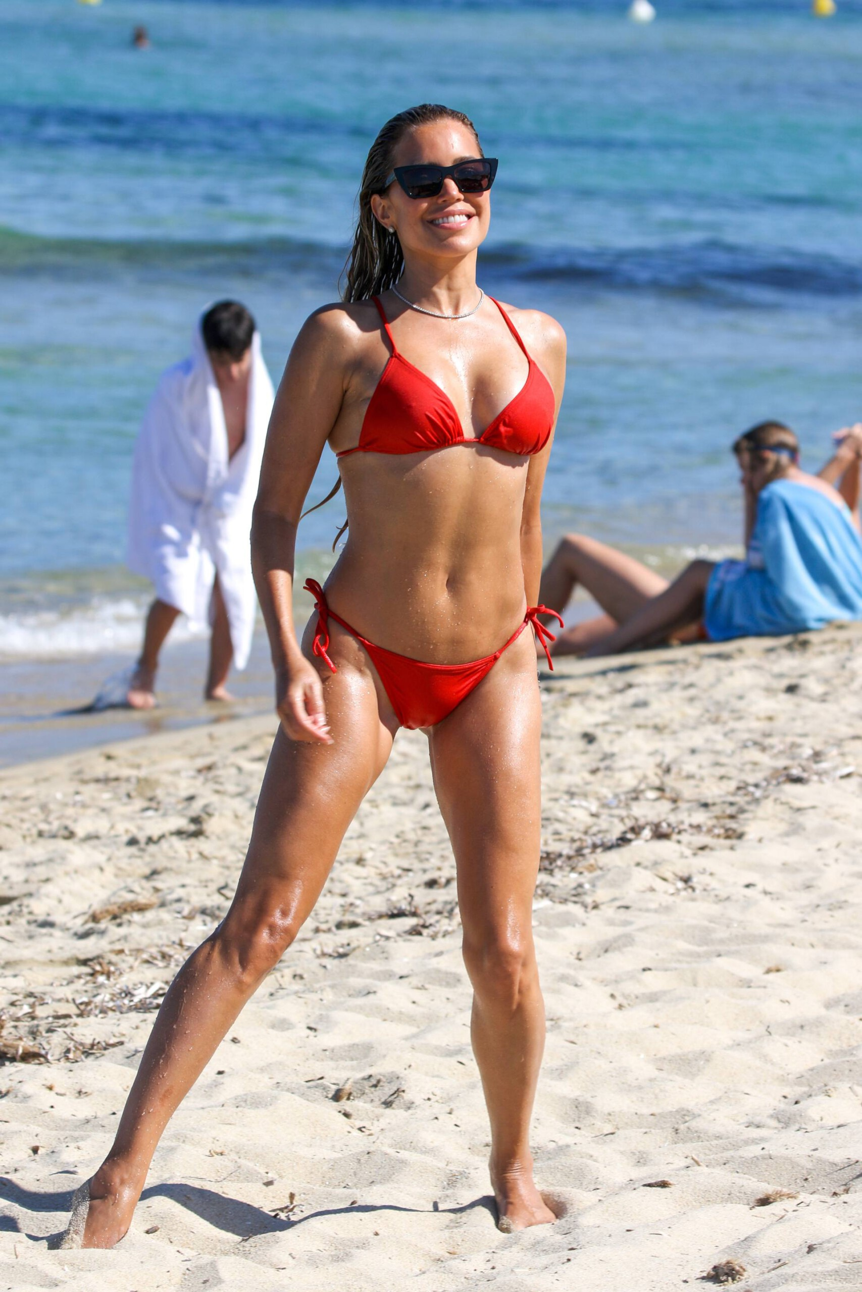 Sylvie Meis – Beautiful Body In Sexy Bikini On The Beach In Saint Tropez 0023
