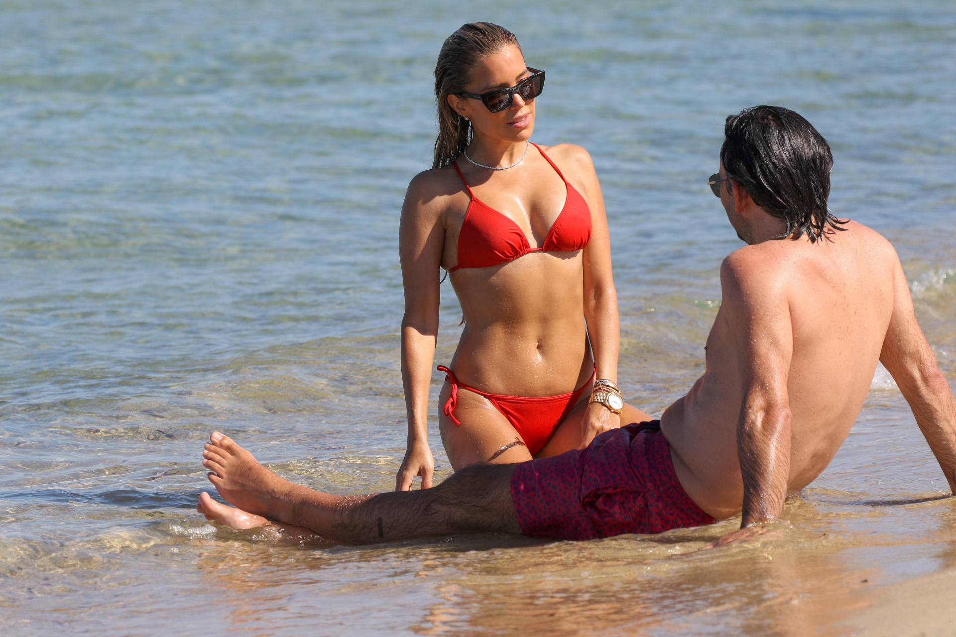 Sylvie Meis – Beautiful Body In Sexy Bikini On The Beach In Saint Tropez 0024