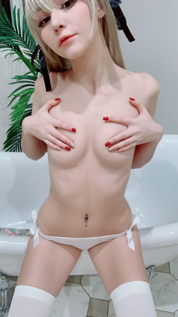 Tsuki Desu Nude Sora Kasugano Cosplay 0077