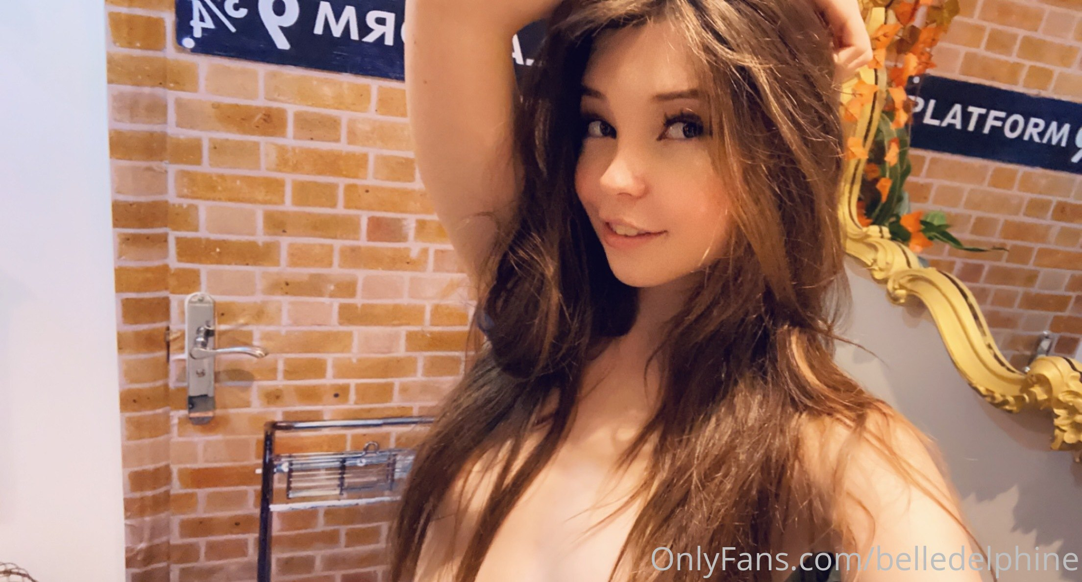 Belle Delphine Naked On Stairs 0054