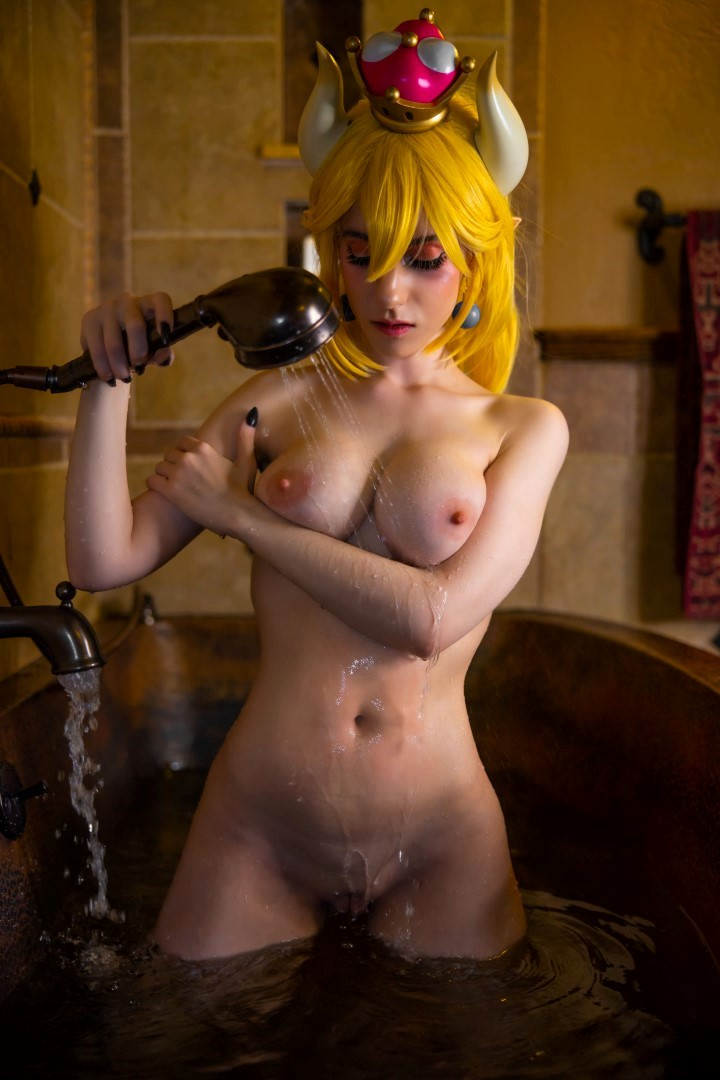 Lana Rain Nude Bowsette Cosplay 0002
