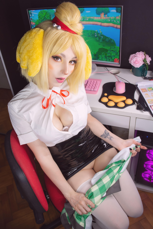 Shirokitsune Isabelle (animal Crossing) 0017