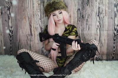Belle Delphine Army Girl 0005
