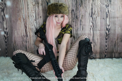 Belle Delphine Army Girl 0006
