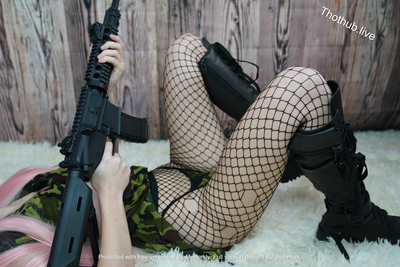 Belle Delphine Army Girl 0009