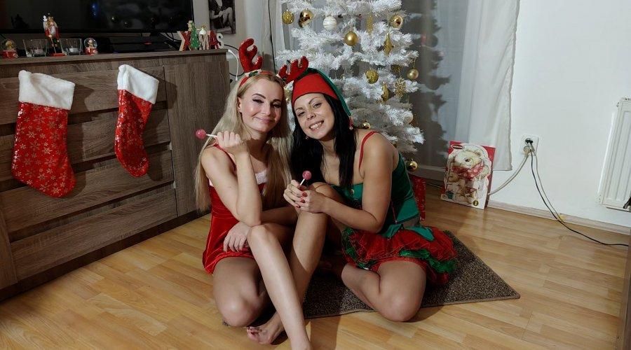 Ersties Xmas Surprise Two Naughty Girls Under The Christmas Tree
