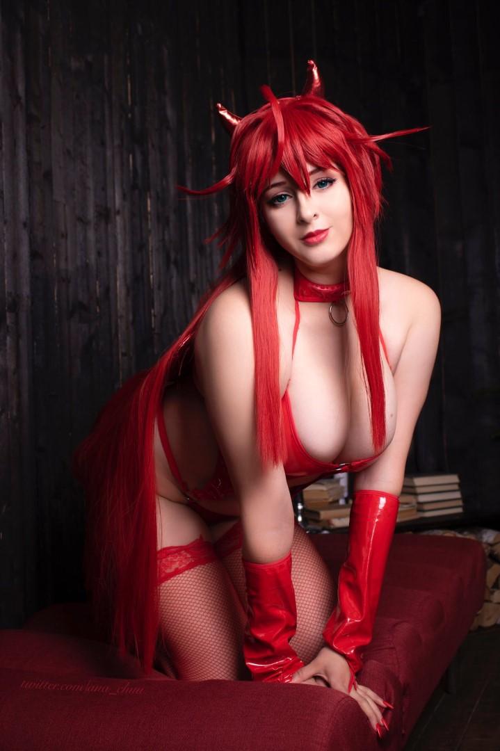 Ana Chuu Nude Rias Cosplay0009
