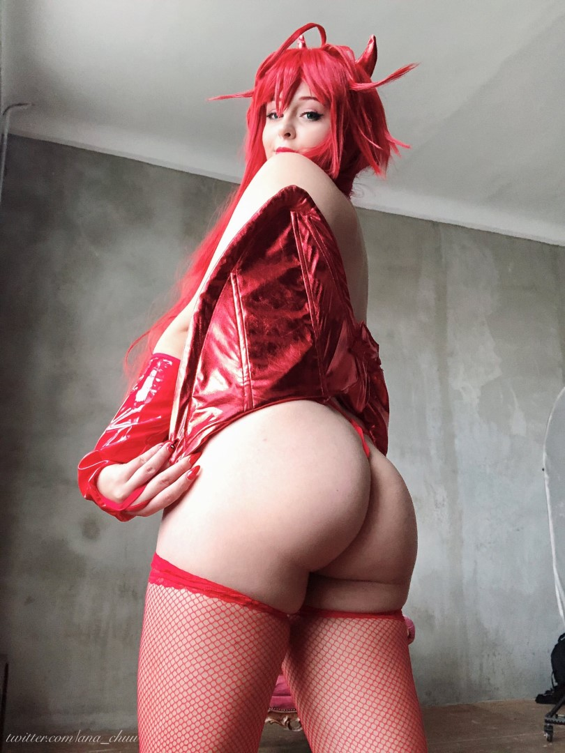 Ana Chuu Nude Rias Cosplay0011