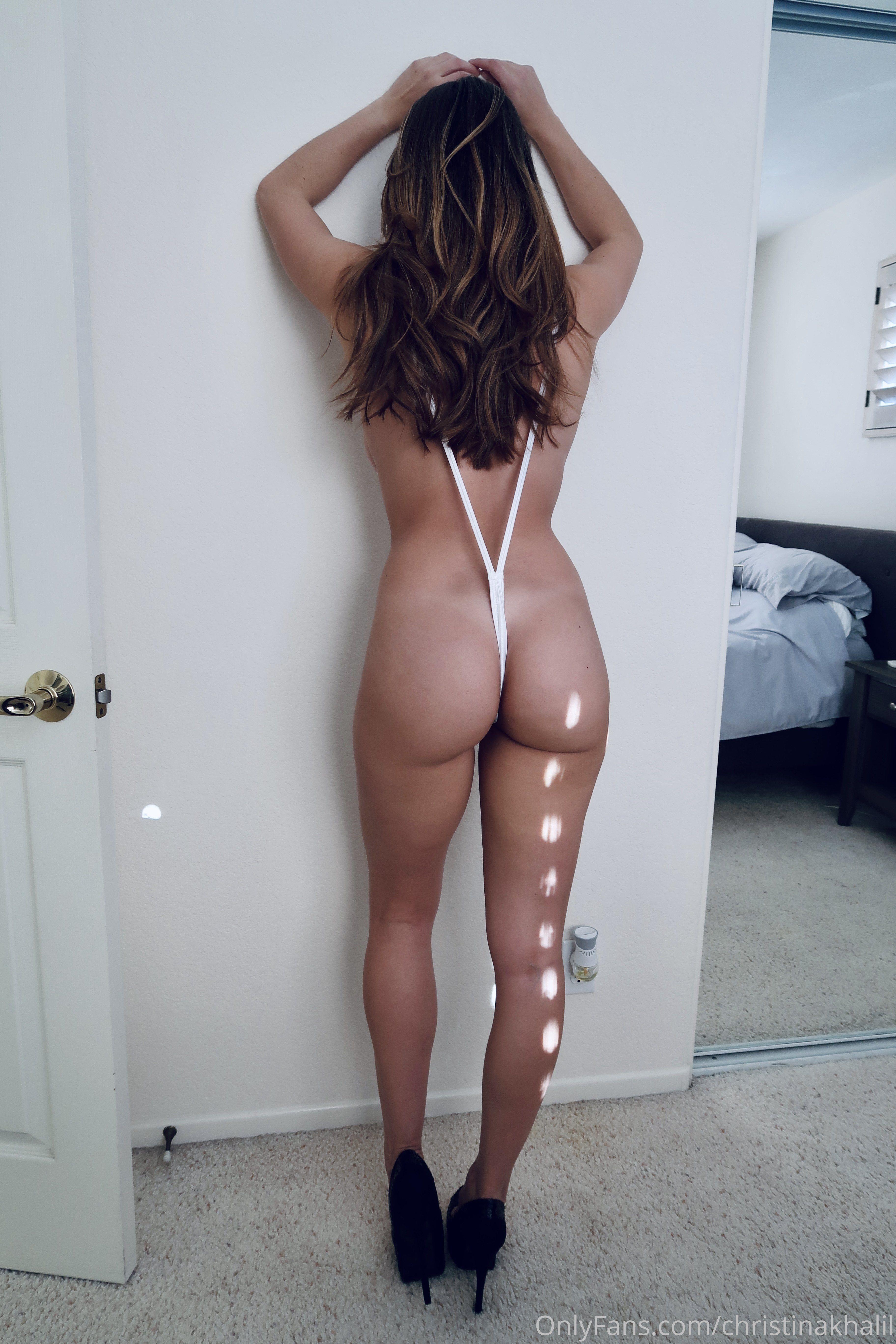 Christina Khalil White Hot Ck White Sling Bikini 0002