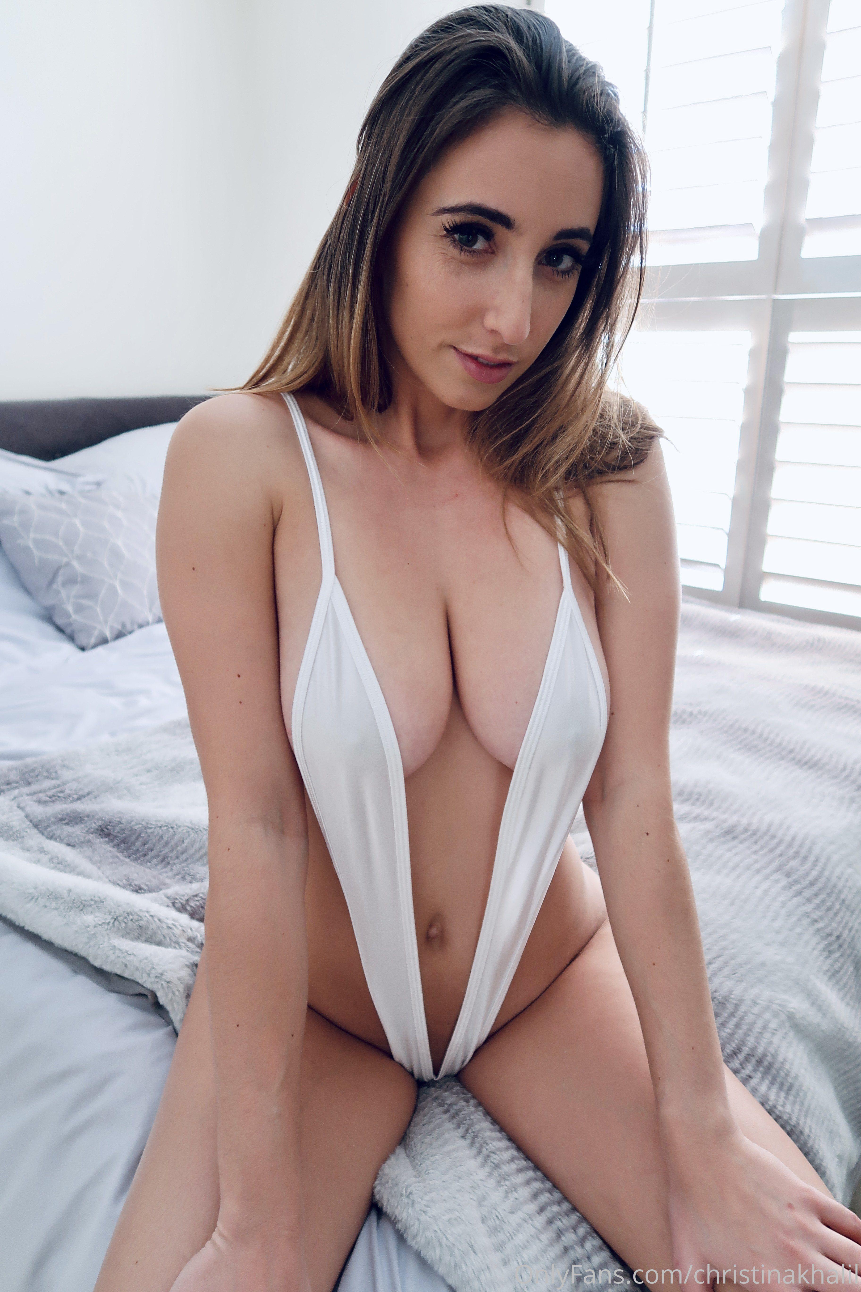 Christina Khalil White Hot Ck White Sling Bikini 0008