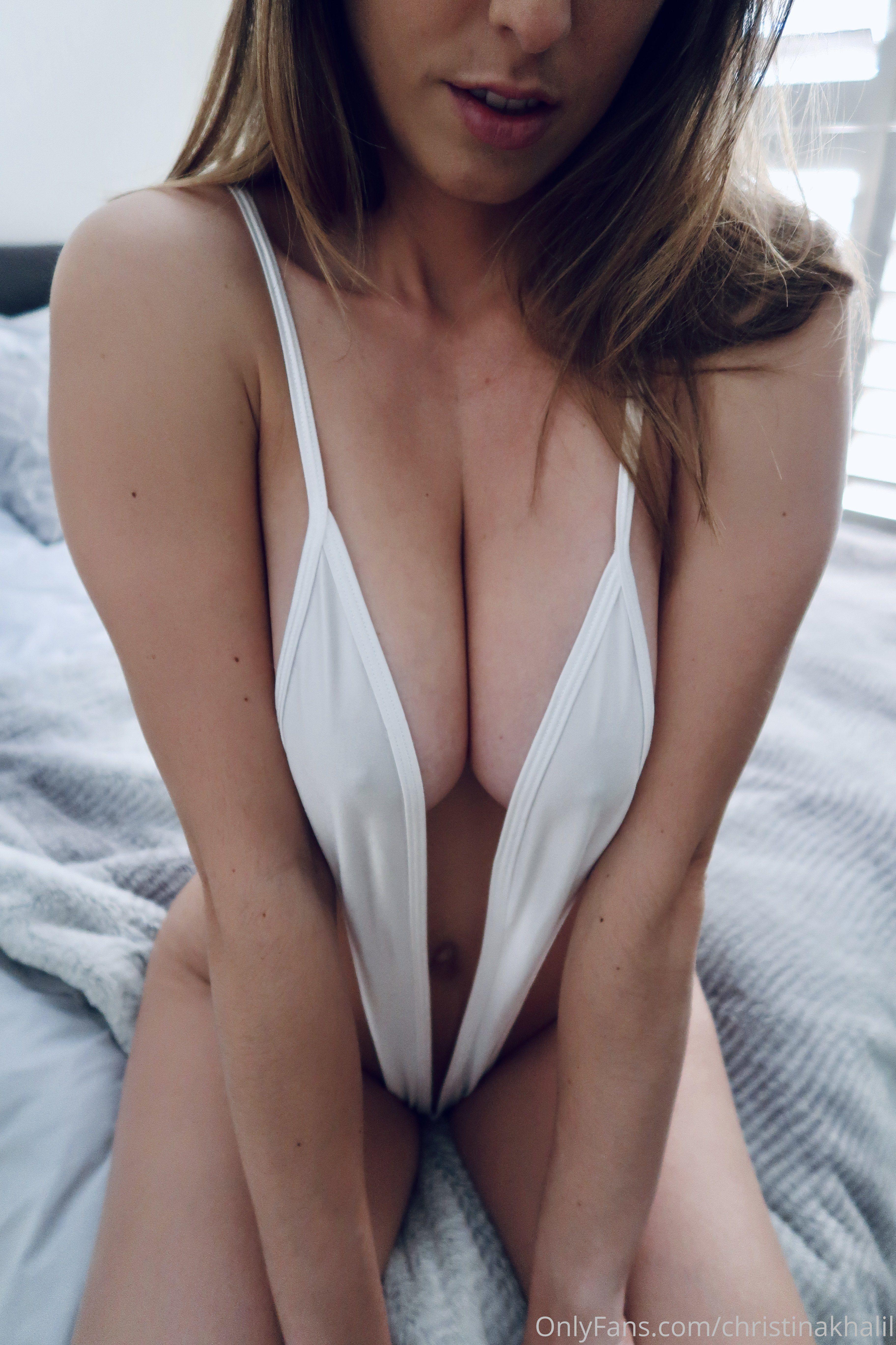 Christina Khalil White Hot Ck White Sling Bikini 0009