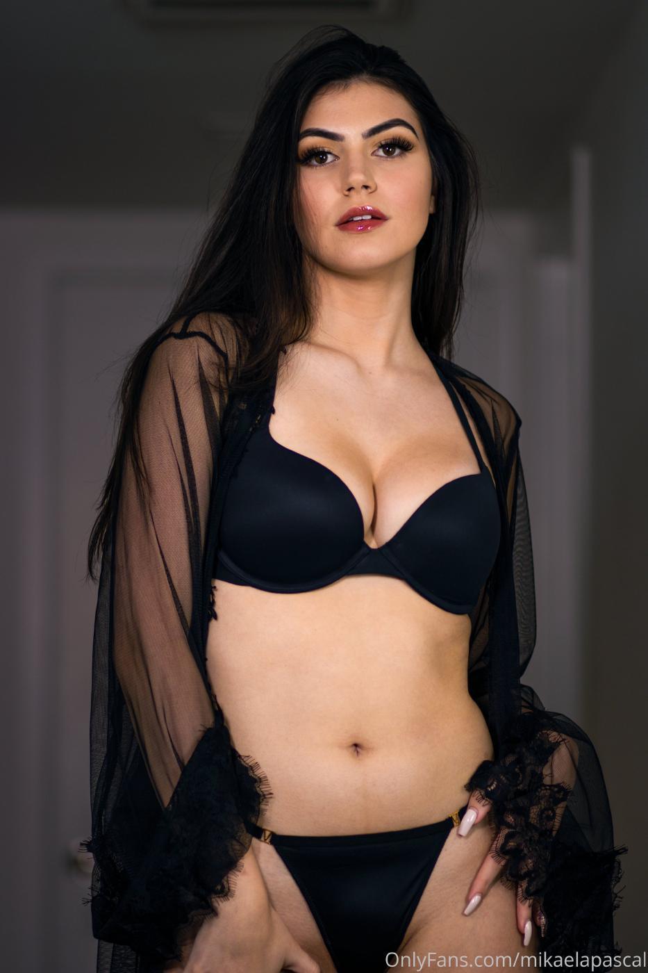 Mikaela Pascal Black Lingerie Onlyfans Set Leaked 0001