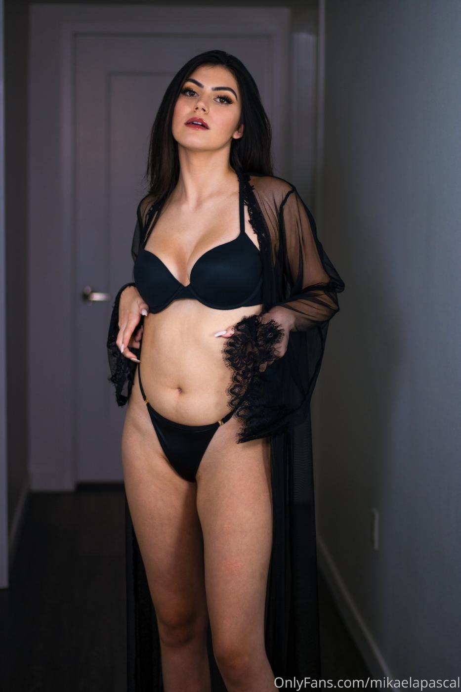 Mikaela Pascal Black Lingerie Onlyfans Set Leaked 0004