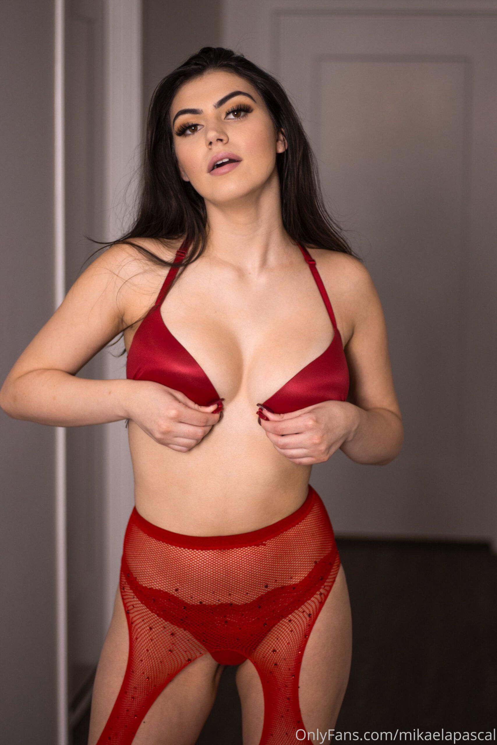 Mikaela Pascal Red Lingerie 0005