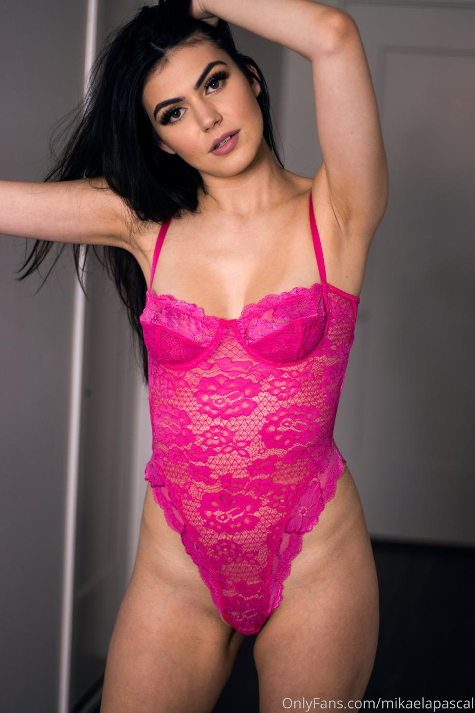 Mikaela Pascal Pink Bodysuit Lingerie Onlyfans Set Leaked Zbmtiv