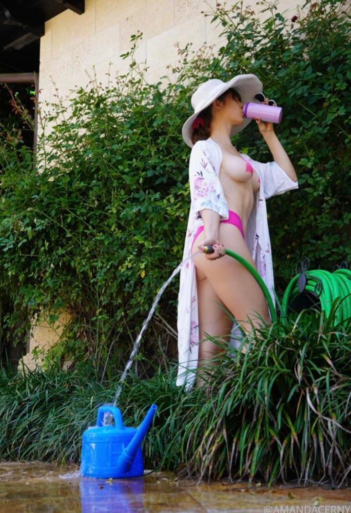 Amanda Cerny Pink Flamingo Nipple Pasties Onlyfans Set 0014
