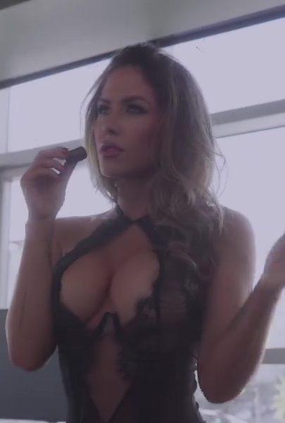 Brittney Palmer Black Lingerie Teasing Video Leaked