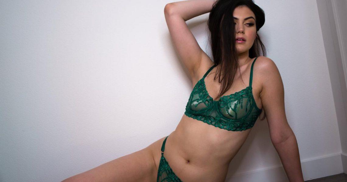 Mikaela Pascal Green Lingerie Onlyfans Set Leaked 0005