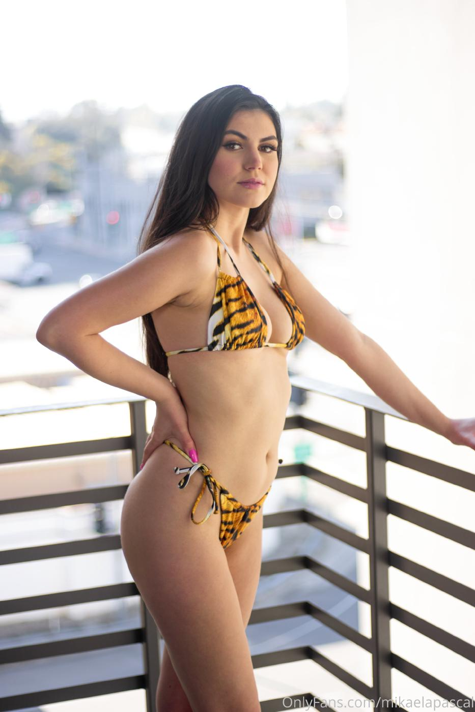 Mikaela Pascal Nude Tiger Bikini Photos Leaked 0001