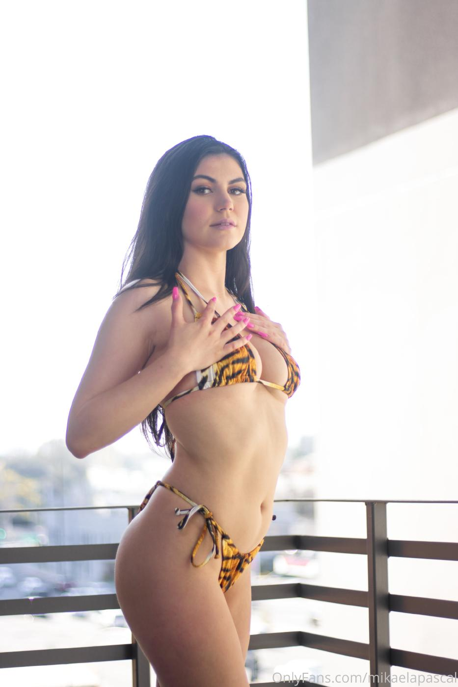Mikaela Pascal Nude Tiger Bikini Photos Leaked 0002