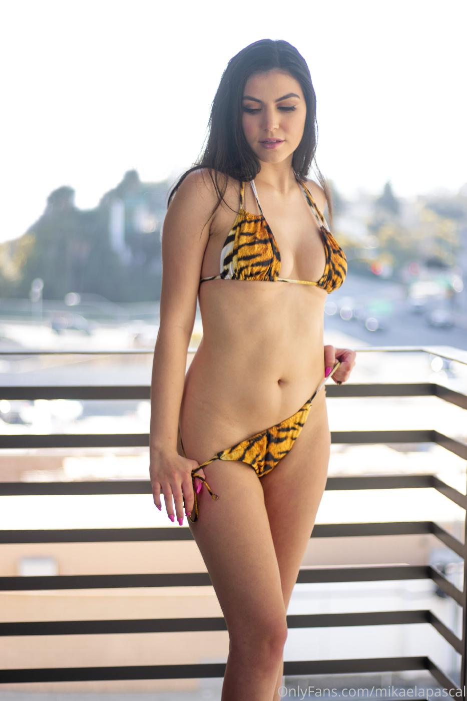 Mikaela Pascal Nude Tiger Bikini Photos Leaked 0004