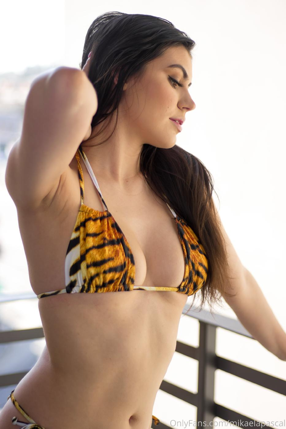 Mikaela Pascal Nude Tiger Bikini Photos Leaked 0005