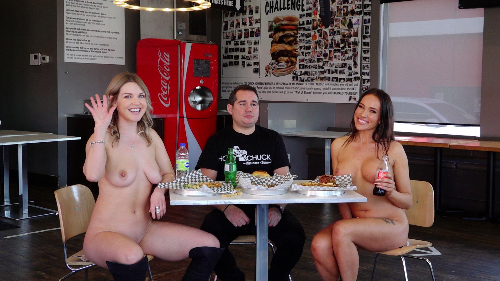 Naked news Naked woman