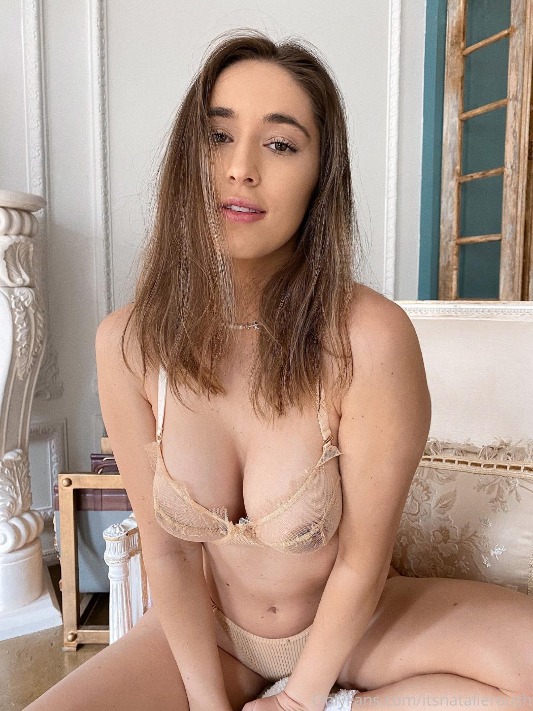 Natalie Roush Nude Sheer Bra Onlyfans Set Leaked 0009