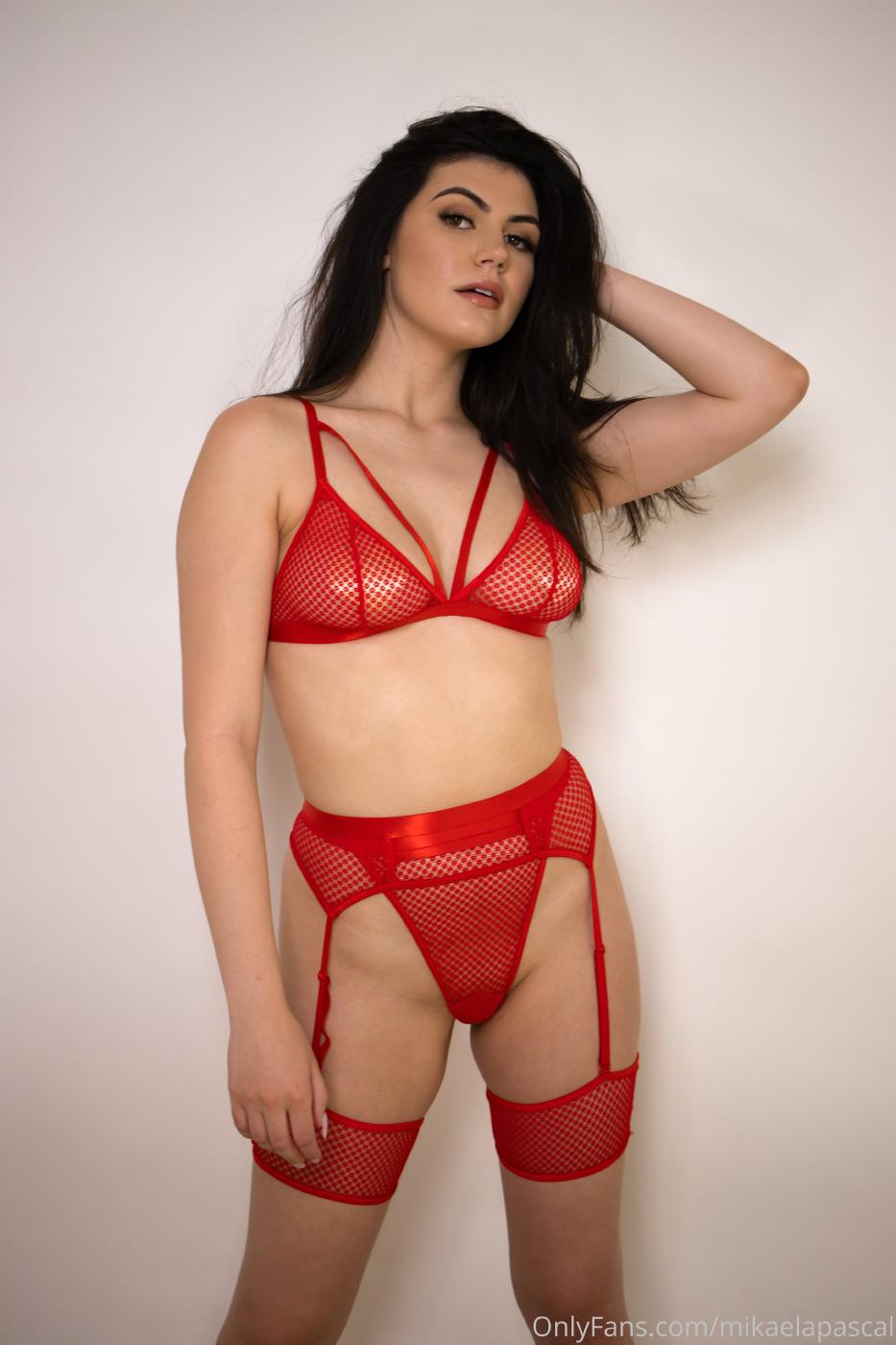 Mikaela Pascal Red Lingerie Onlyfans Set Leaked 0002