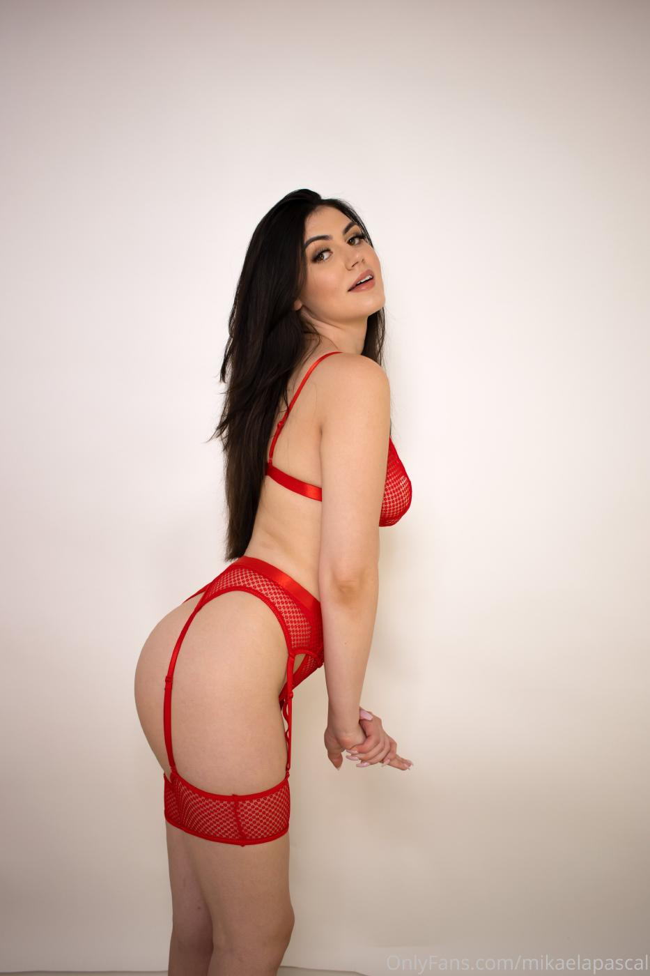 Mikaela Pascal Red Lingerie Onlyfans Set Leaked 0003