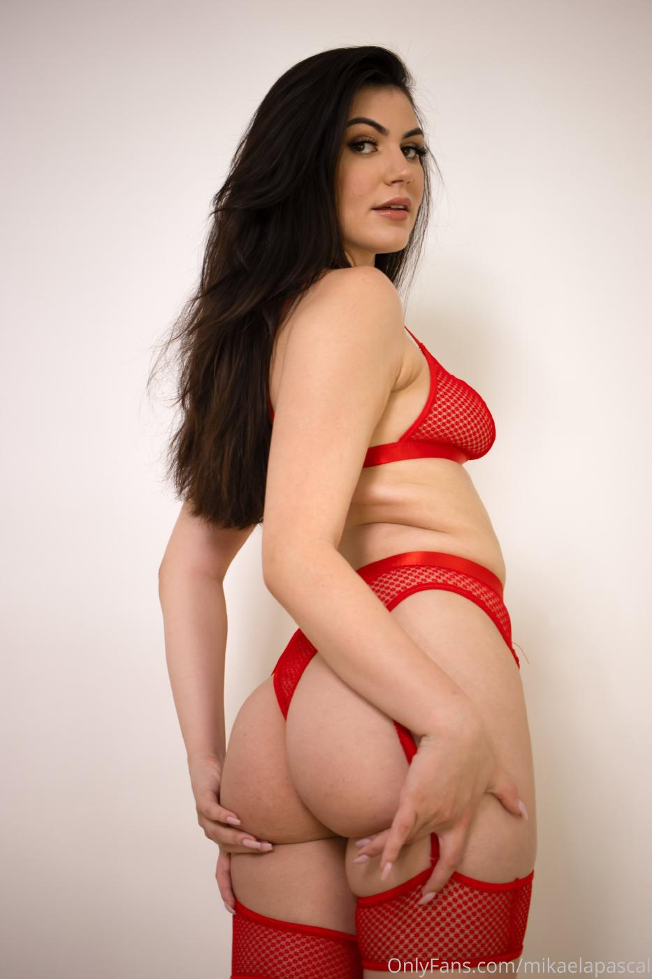 Mikaela Pascal Red Lingerie Onlyfans Set Leaked 0004