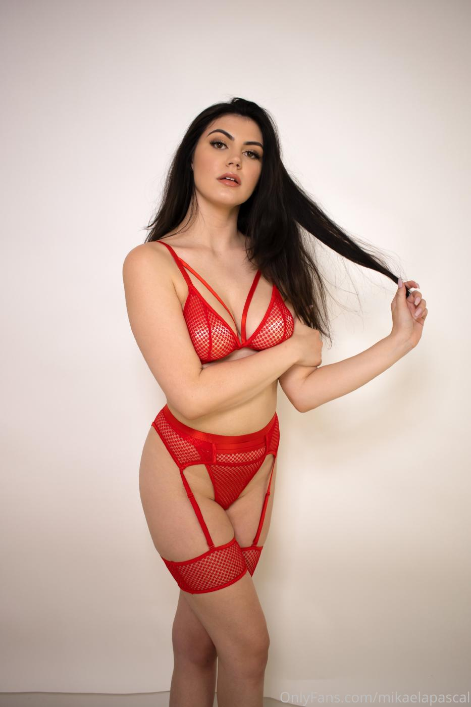 Mikaela Pascal Red Lingerie Onlyfans Set Leaked 0005