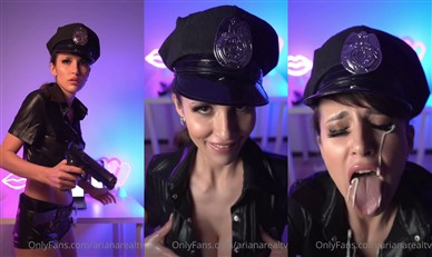 Arianarealtv Nude Police Jerks You Off Video Leaked
