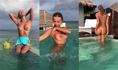 Catherine Kn Nude Pool Teasing Video Leaked
