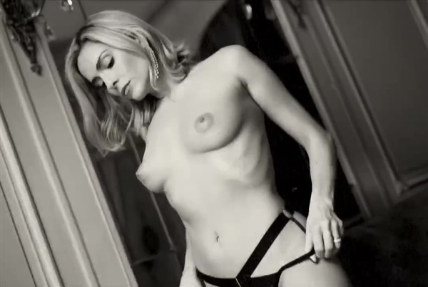 Clara Morgane Nude Topless Black Lingerie Tease Video Leaked