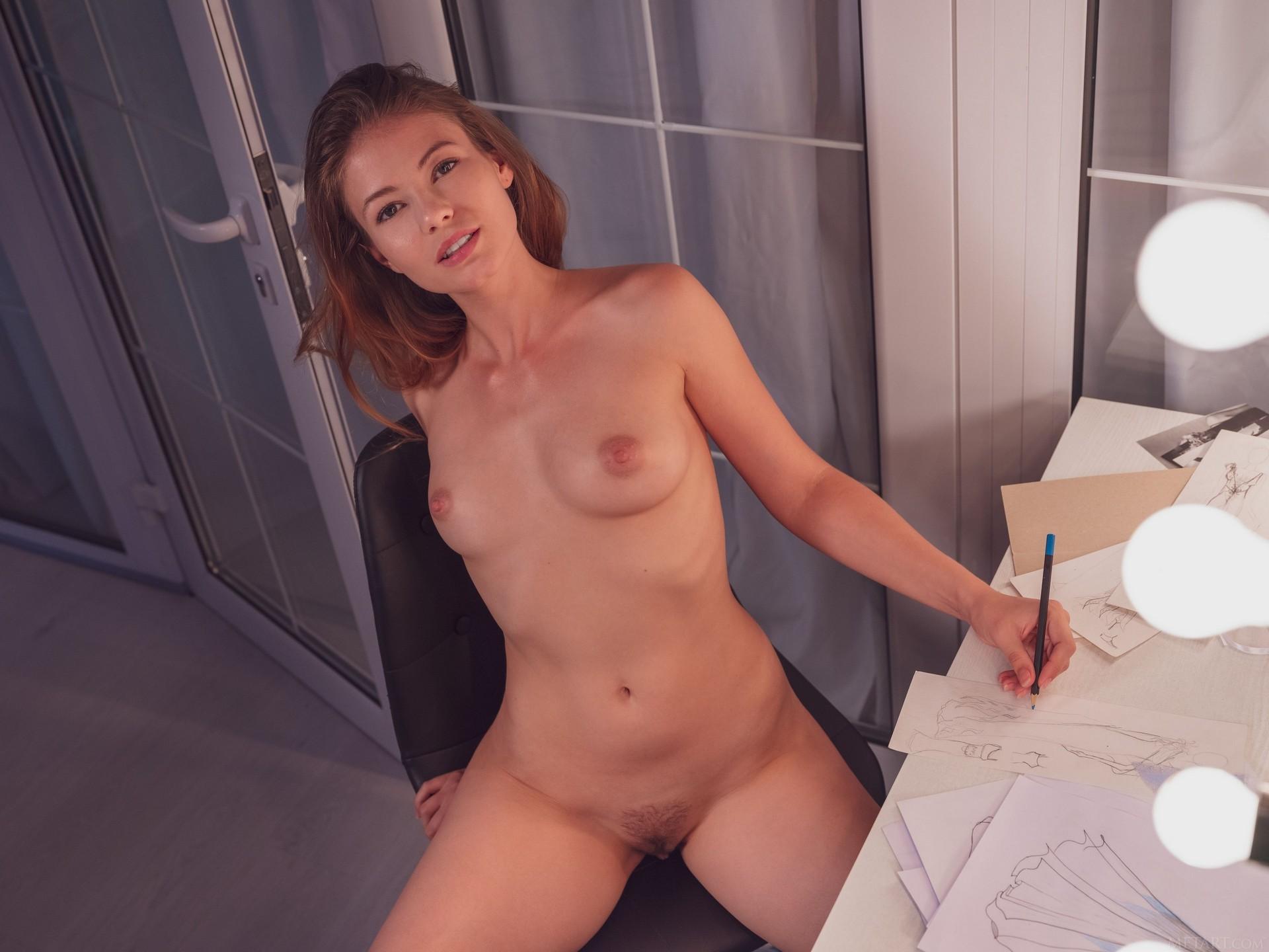 Hilary C In Sketching Playboy Plus (65)