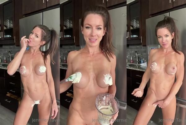 Jennifer Tavernier Naked Whipped Cream Covered Video Leaked