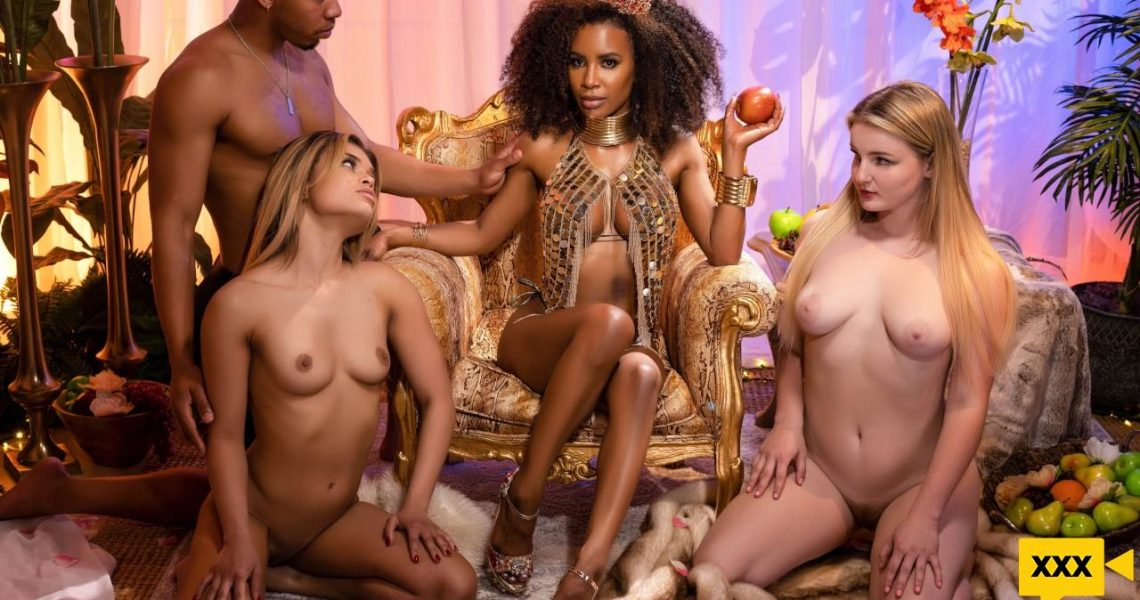 Pornstars Like It Big With Demi Sutra In The Garden Of Demi's Delights