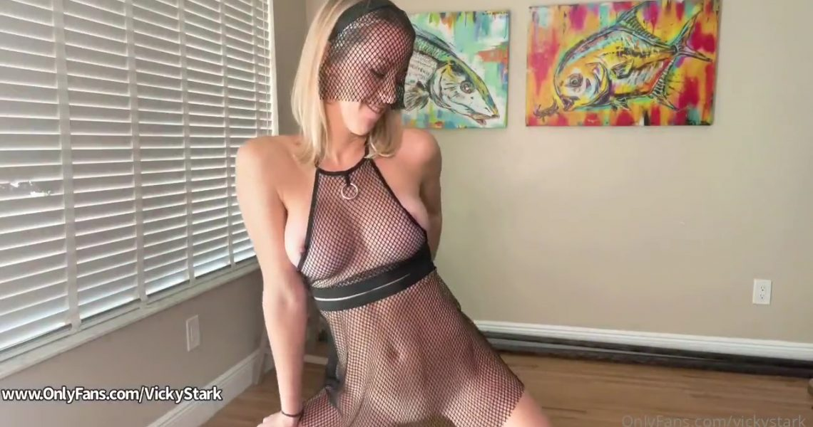 Vicky Stark Patreon Nude Mesh Lingerie Try On Video Leaked