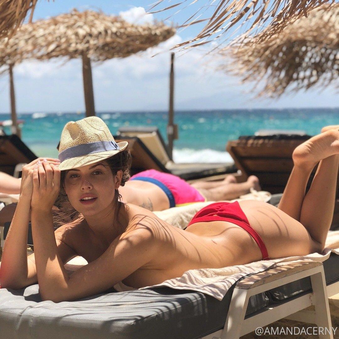 Amanda Cerny Topless Beach Onlyfans Set Leaked Mgiins