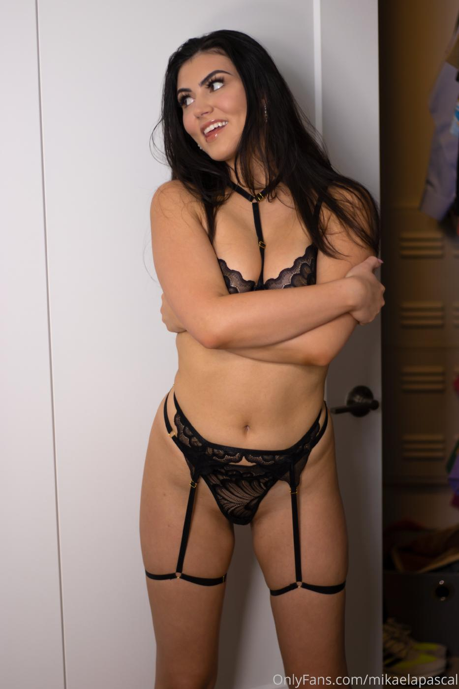 Mikaela Pascal Black See Through Lingerie Onlyfans Set Leaked Xituyf