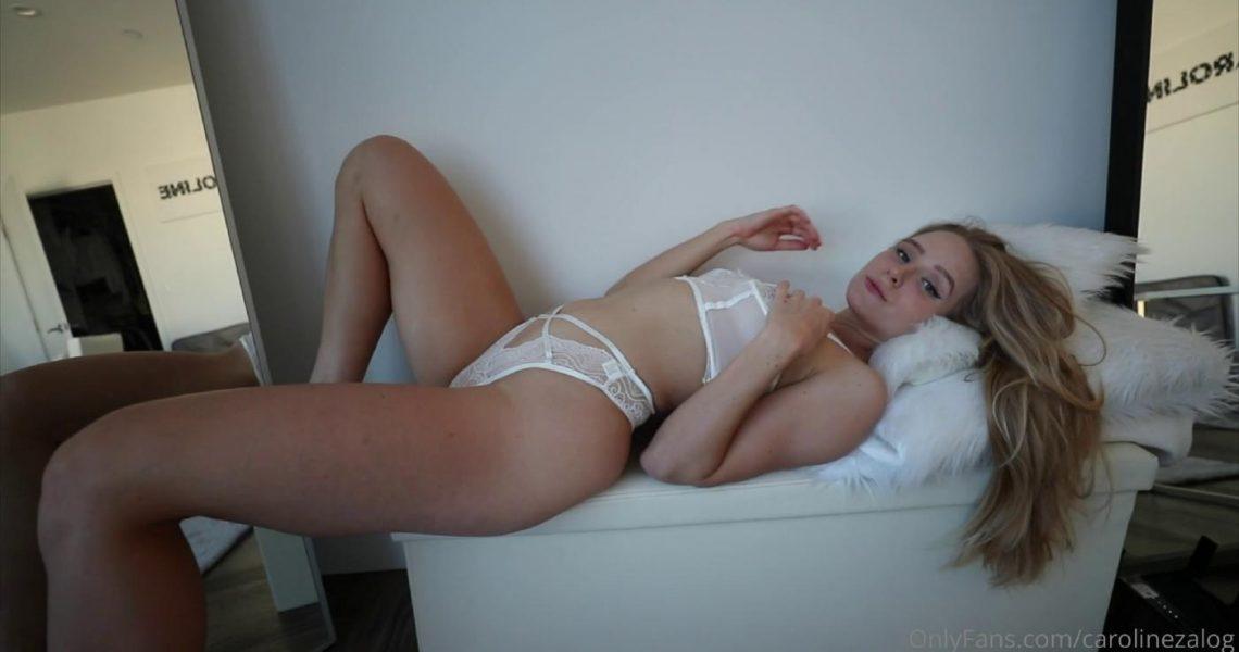 Caroline Zalog See Through Lingerie Onlyfans Video Leaked