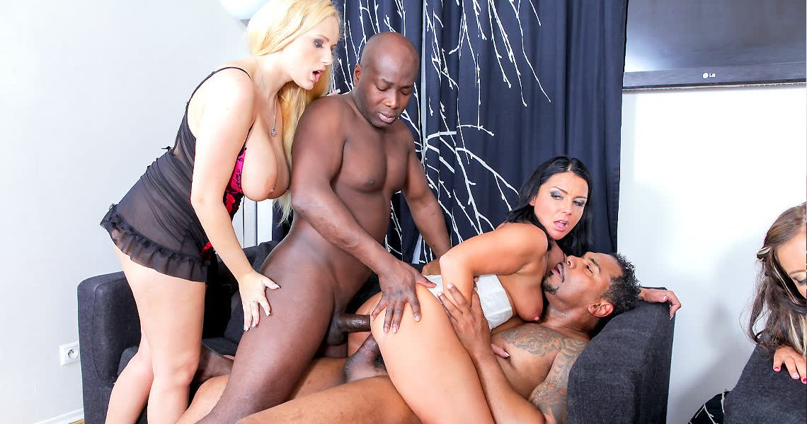 Group Sex Games With Angel Wicky, Tiffany Gabriella Daniels In Wild Milf Interracial Orgy Scene 2