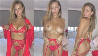 Sammy Braddy Nude Striptease In Red Lingerie Video Leaked