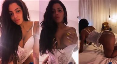 Stephanie Silveira Nude White Lingerie Teasing Video Leaked
