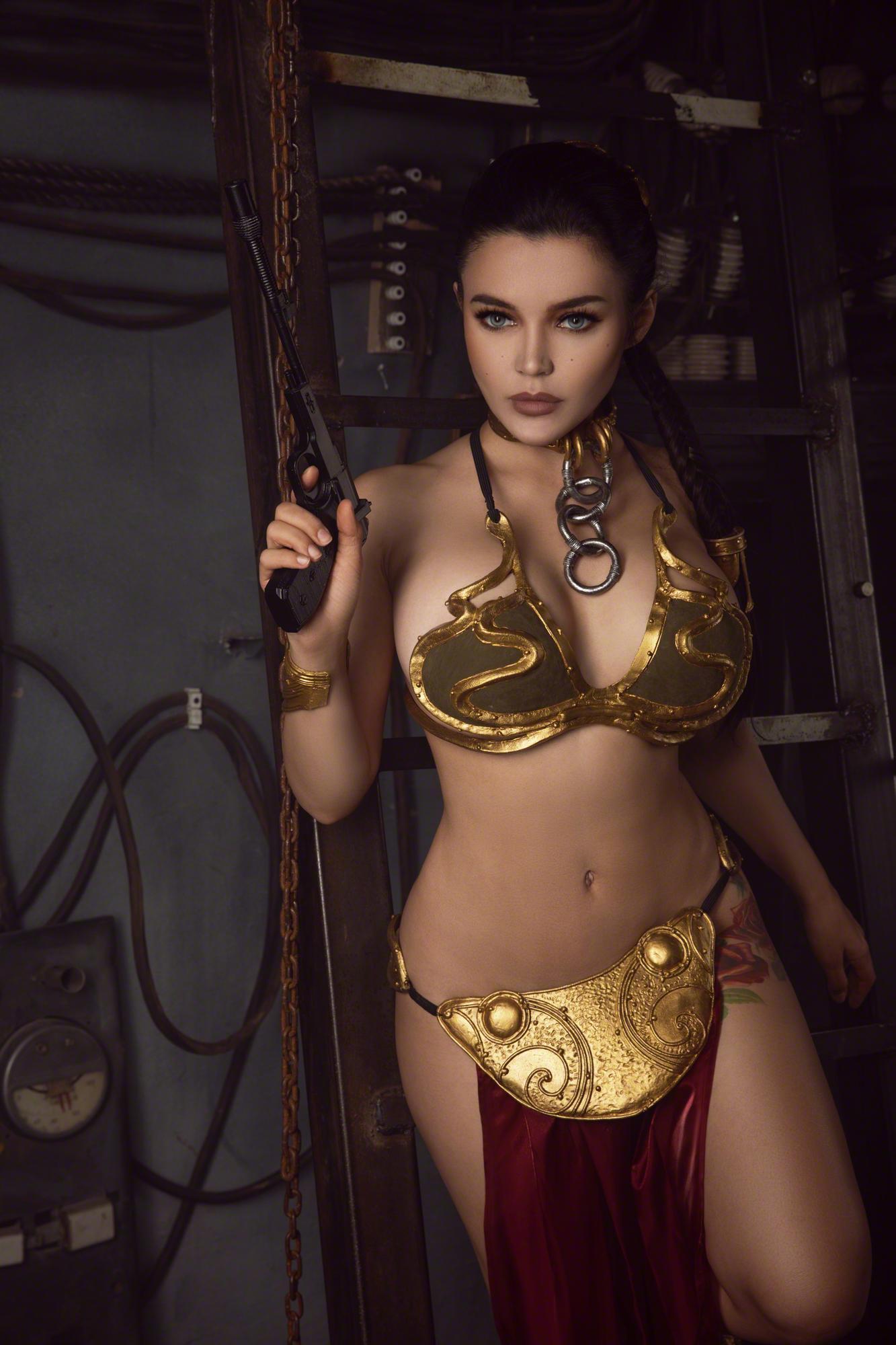 Kalinka Fox Princess Leia Slave Cosplay Set Leaked Exjawi