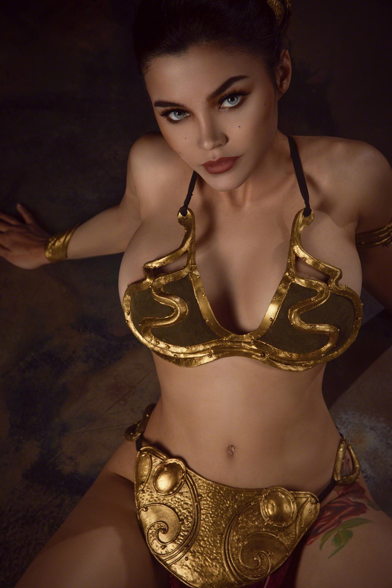 Kalinka Fox Princess Leia Slave Cosplay Set Leaked Hapjtz