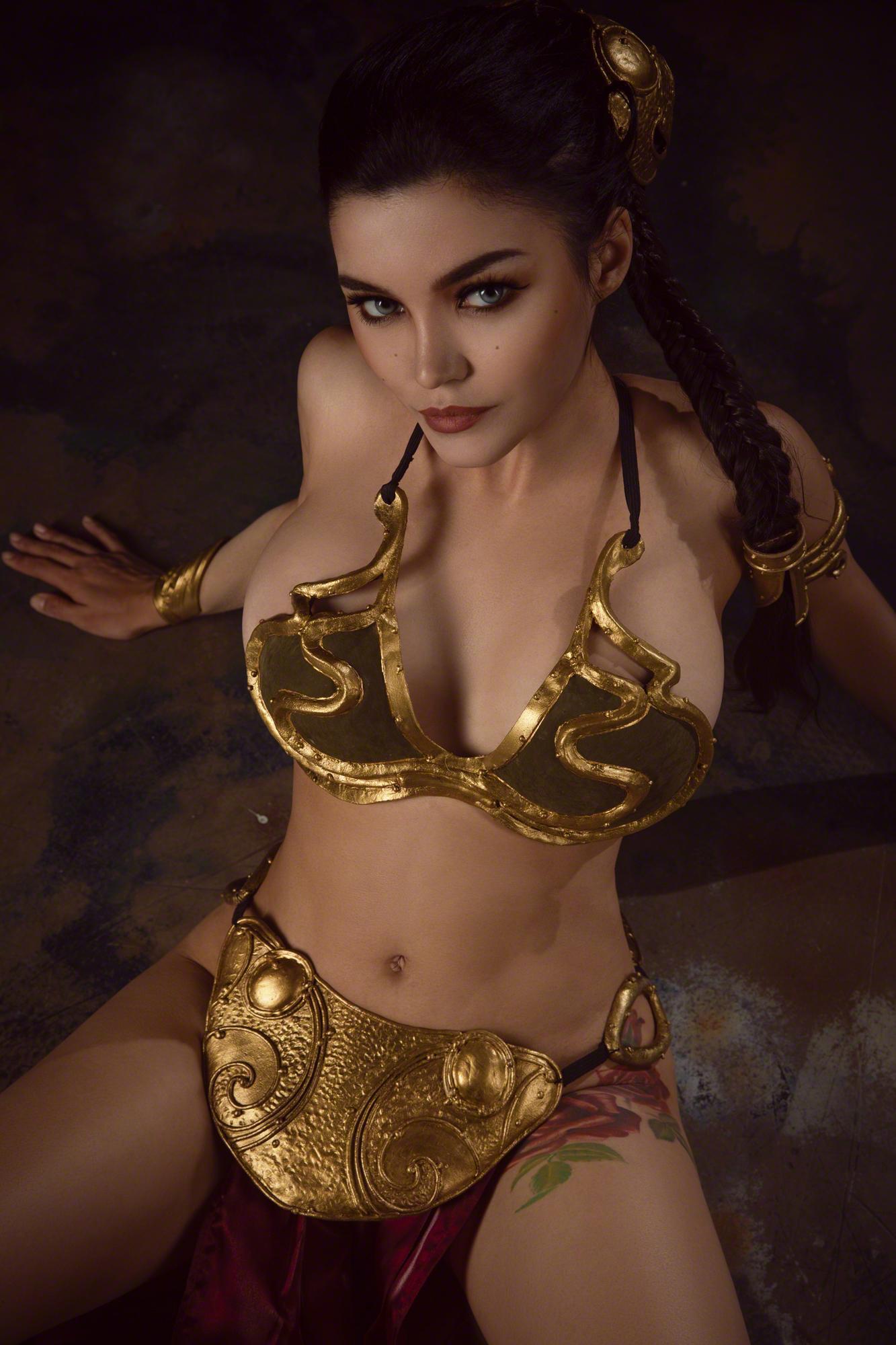 Kalinka Fox Princess Leia Slave Cosplay Set Leaked Mlfmld