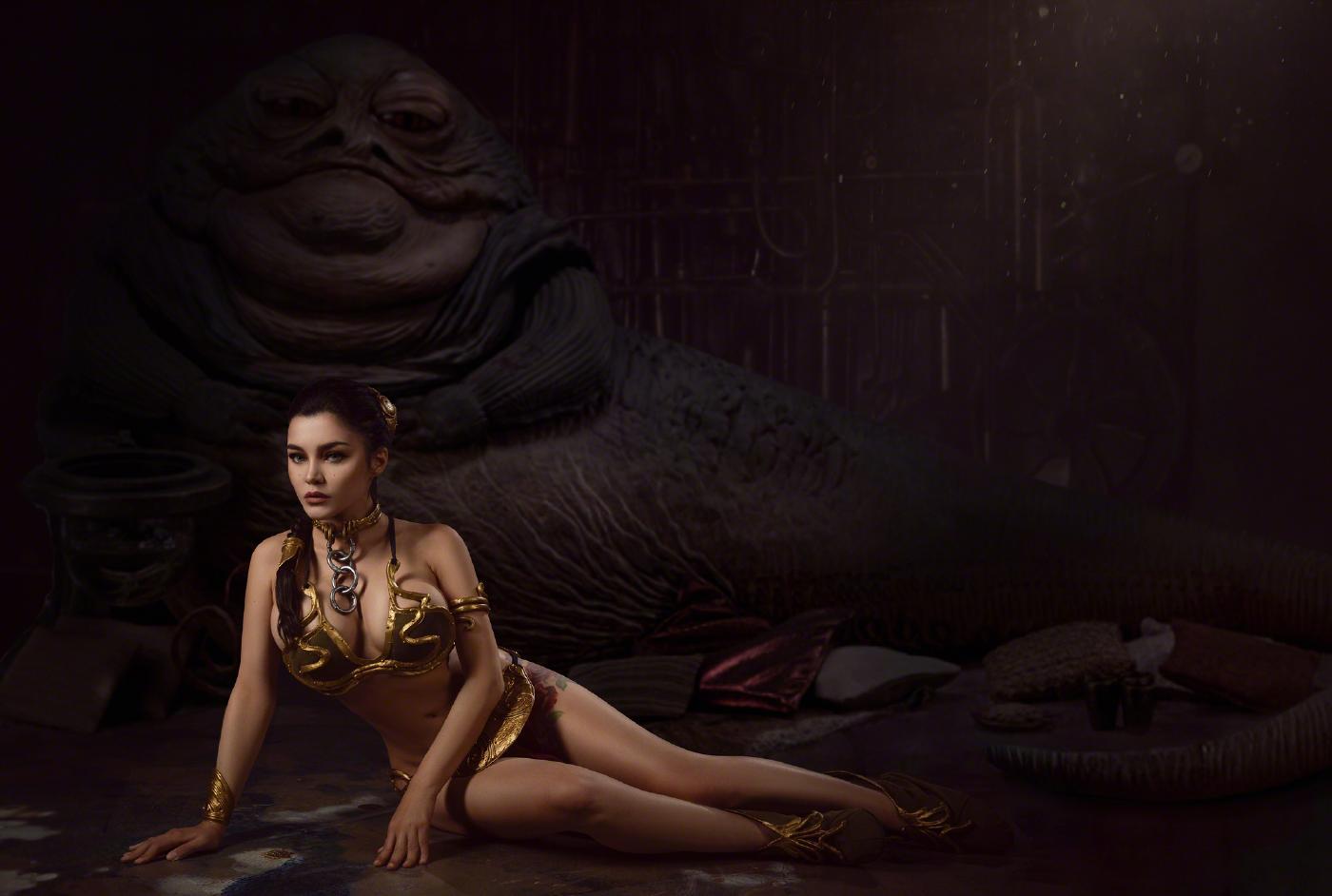 Kalinka Fox Princess Leia Slave Cosplay Set Leaked Sbthyw